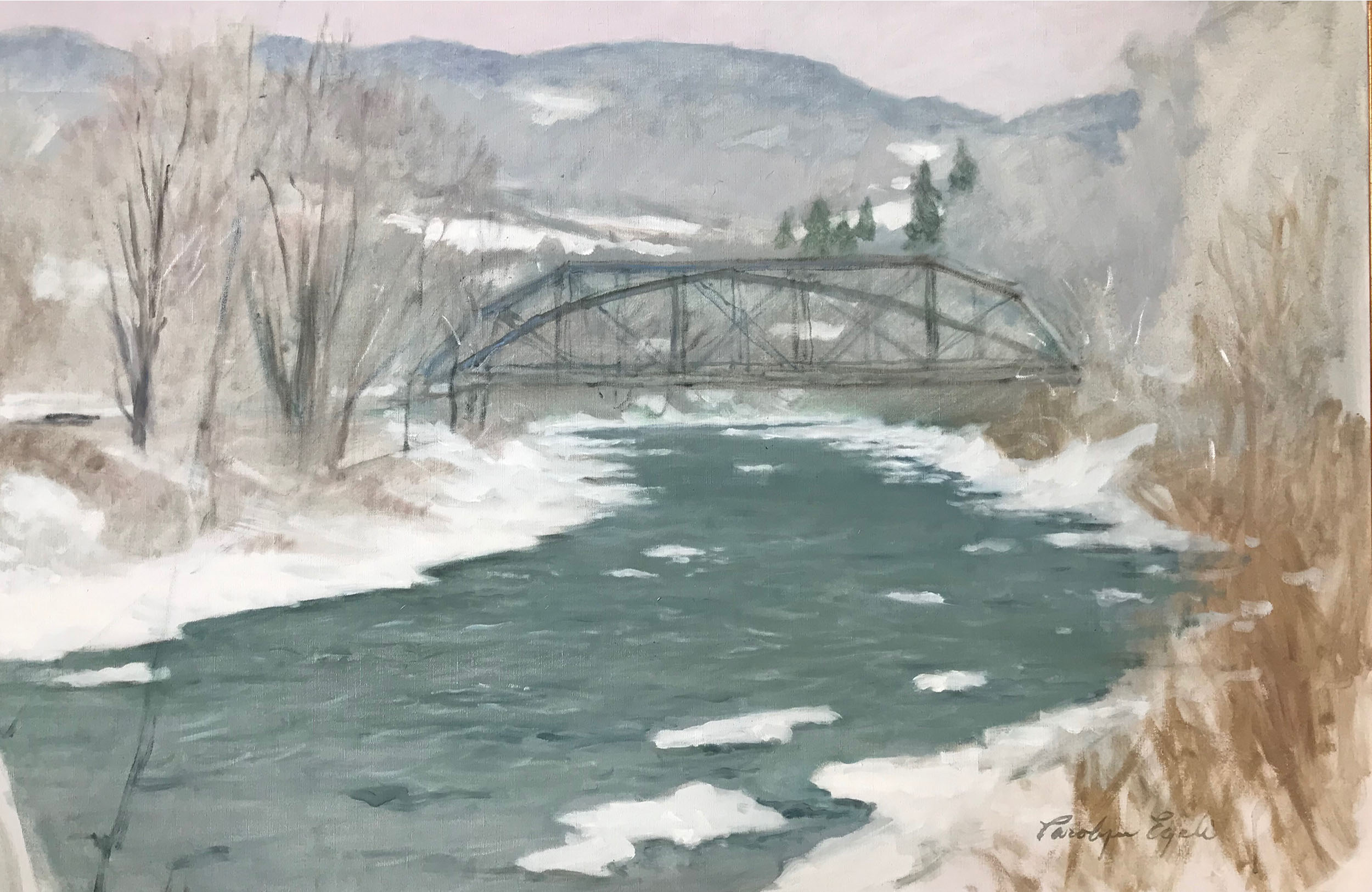 "Bridge in West Woodstock, 30"" x 40"""