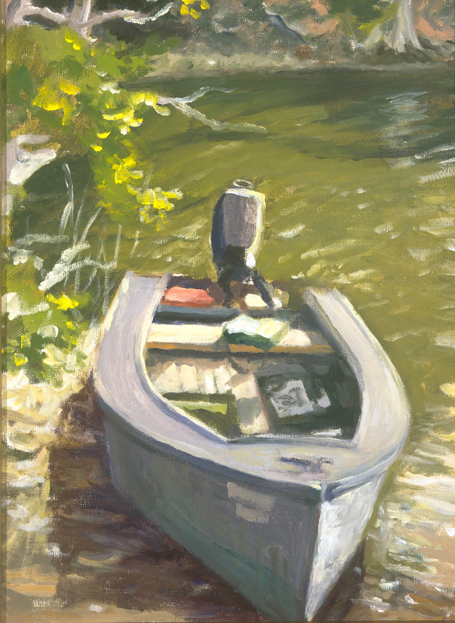 "The Artist's Skiff, 14"" x 18"" Sold"