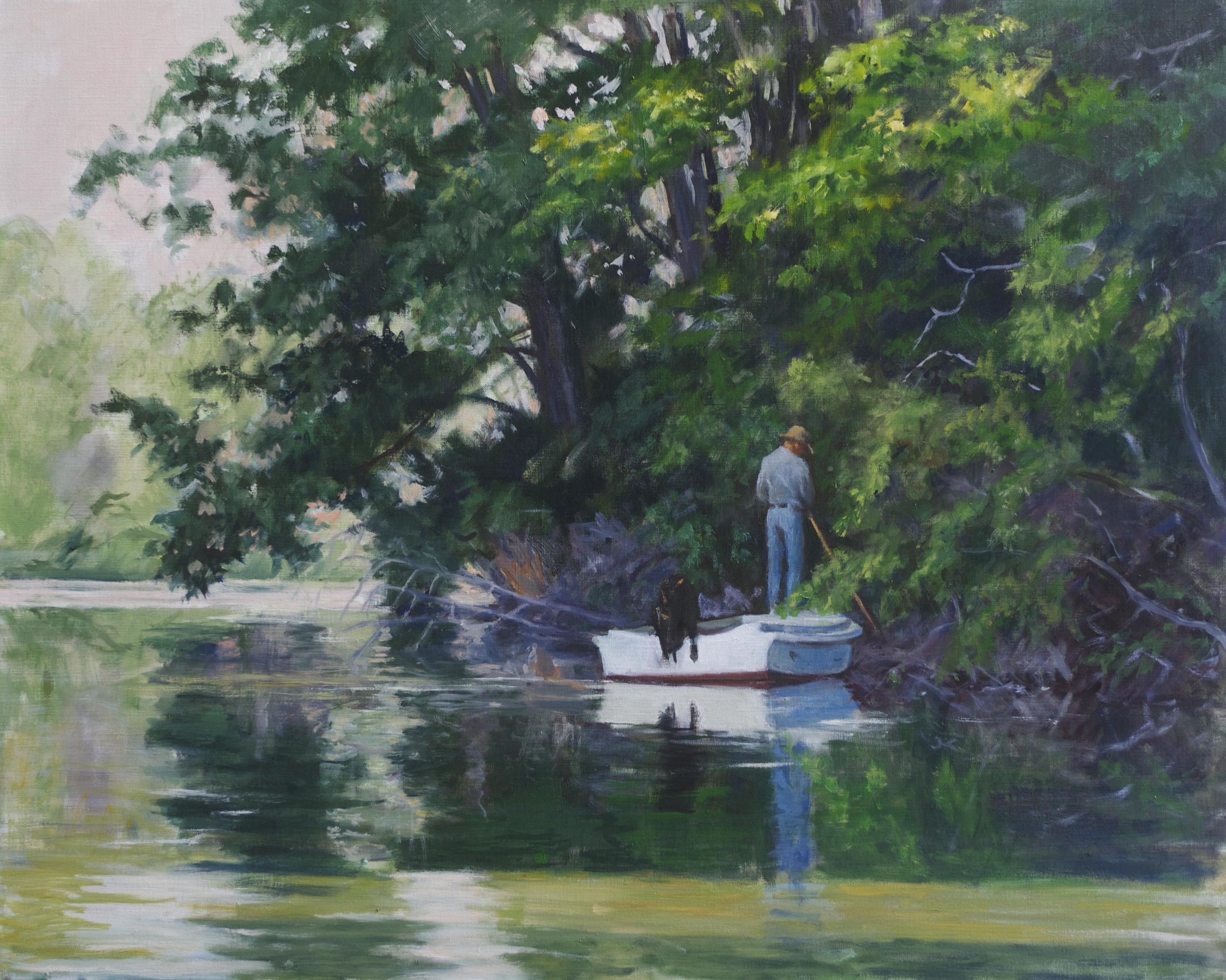 "Polling on Herring Creek, 24"" x 30"""