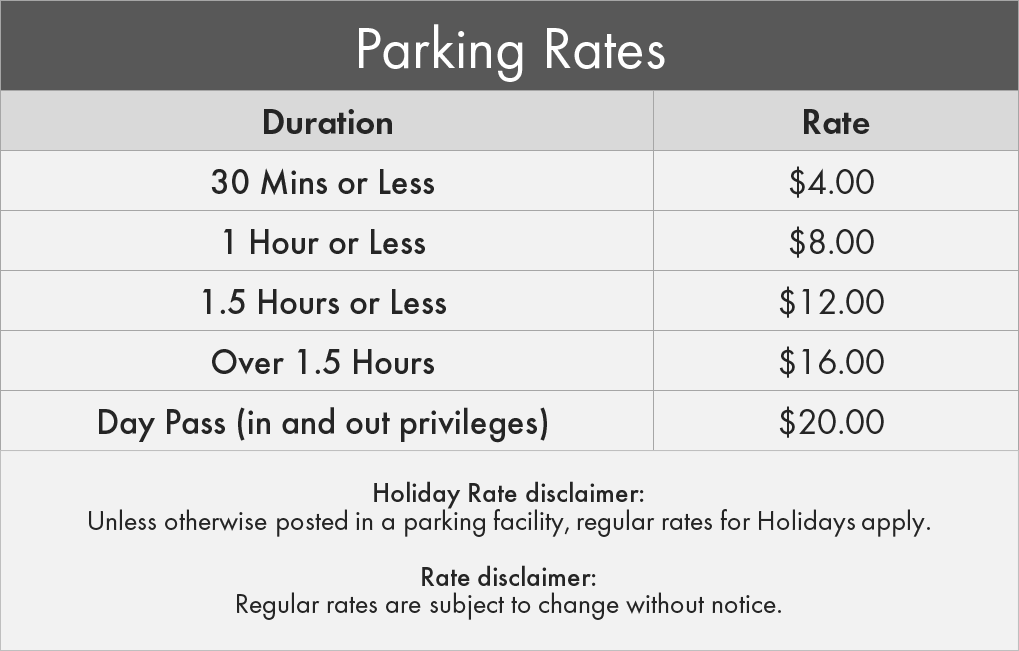 Scarborough & Rouge Hospital General Site Parking Rates
