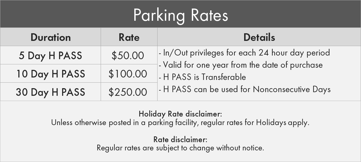 Scarborough & Rouge Hospital General Site Parking Pass Rates