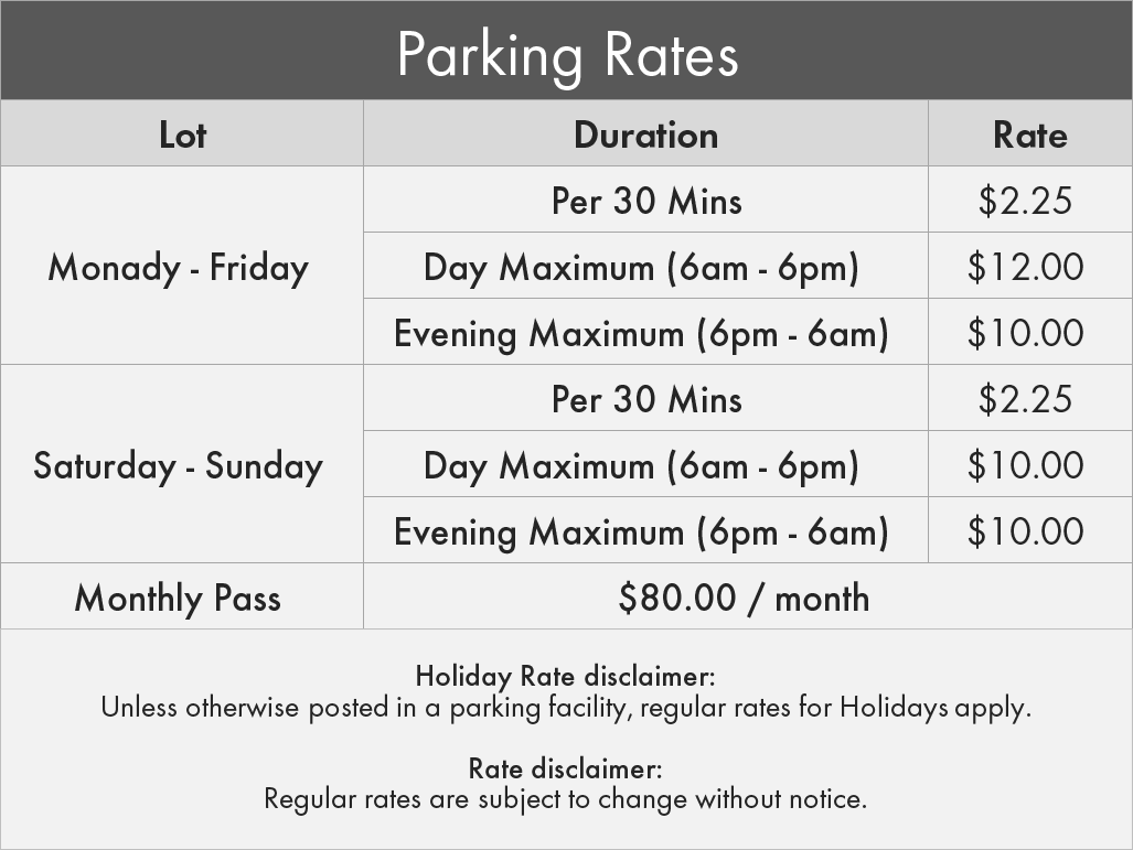 City of London Parking- 451 Ridout Street Parking Rates