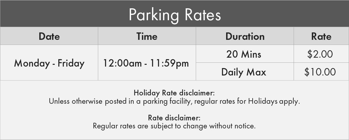 111 Peter St. Toronto Parking Rates