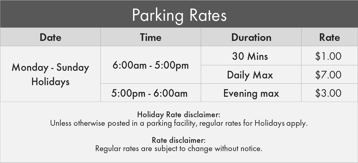 3005 Bloor St. W. Etobicoke Parking Rates