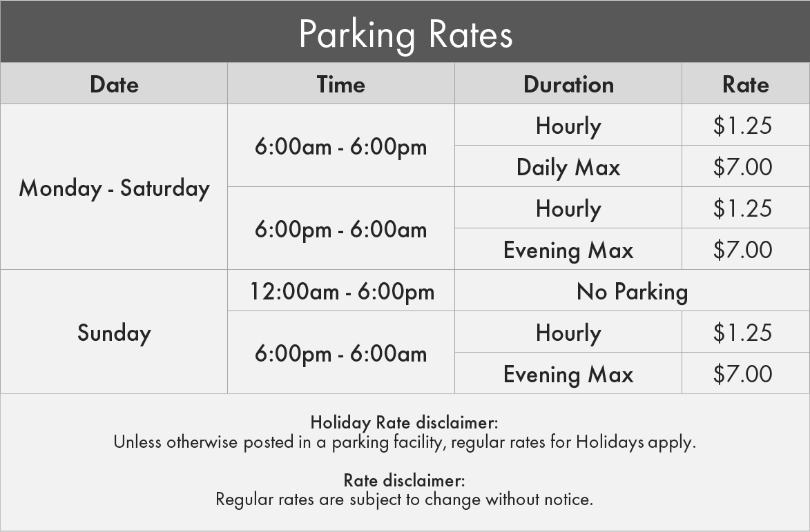 City Centre Care Society Parking Rates