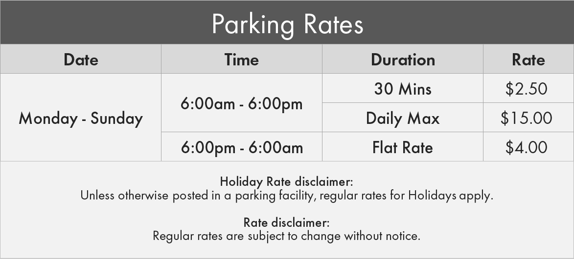 1675 West 4th Ave. Parking Rates