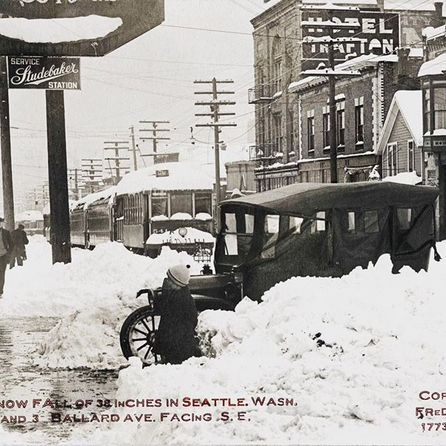 The Big Snow of 1916 February 3rd and 4th. The Taylor shop is where D'Ambrosio Gelato is located.