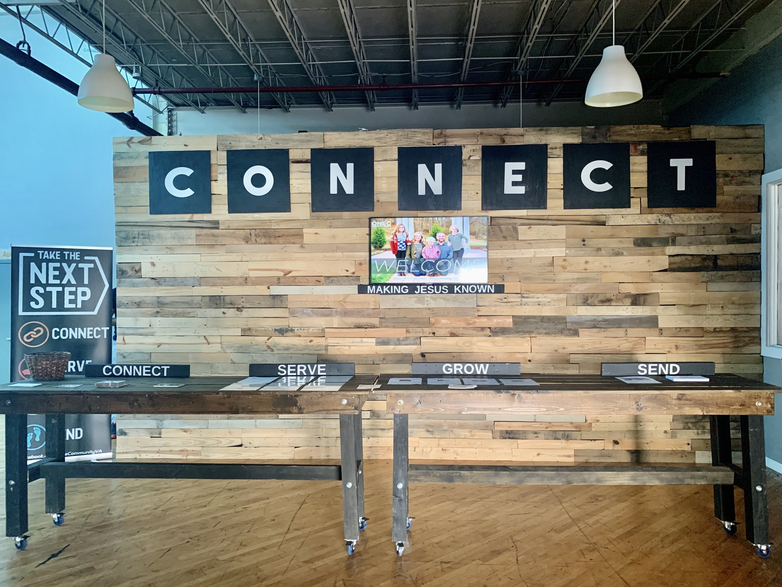 CONNECT TABLE - Learn more about our church, events, groups, and more at our connect table!