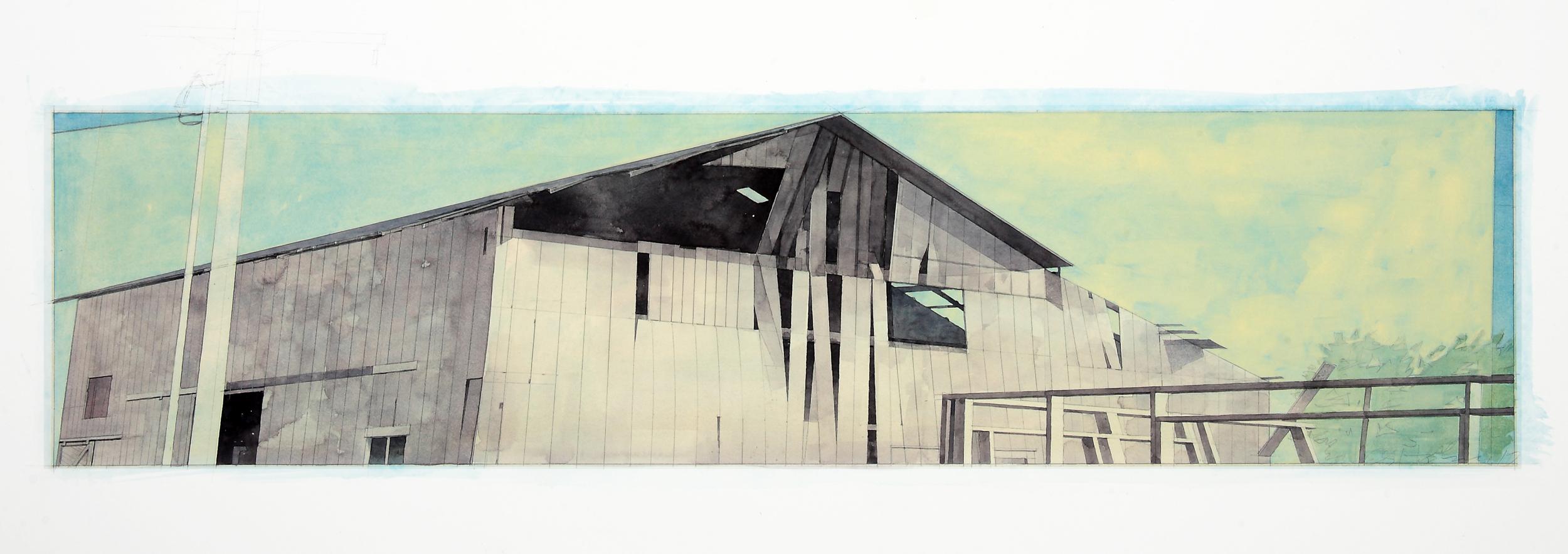 Holmes Barn, 2010 / 8 x 33 in