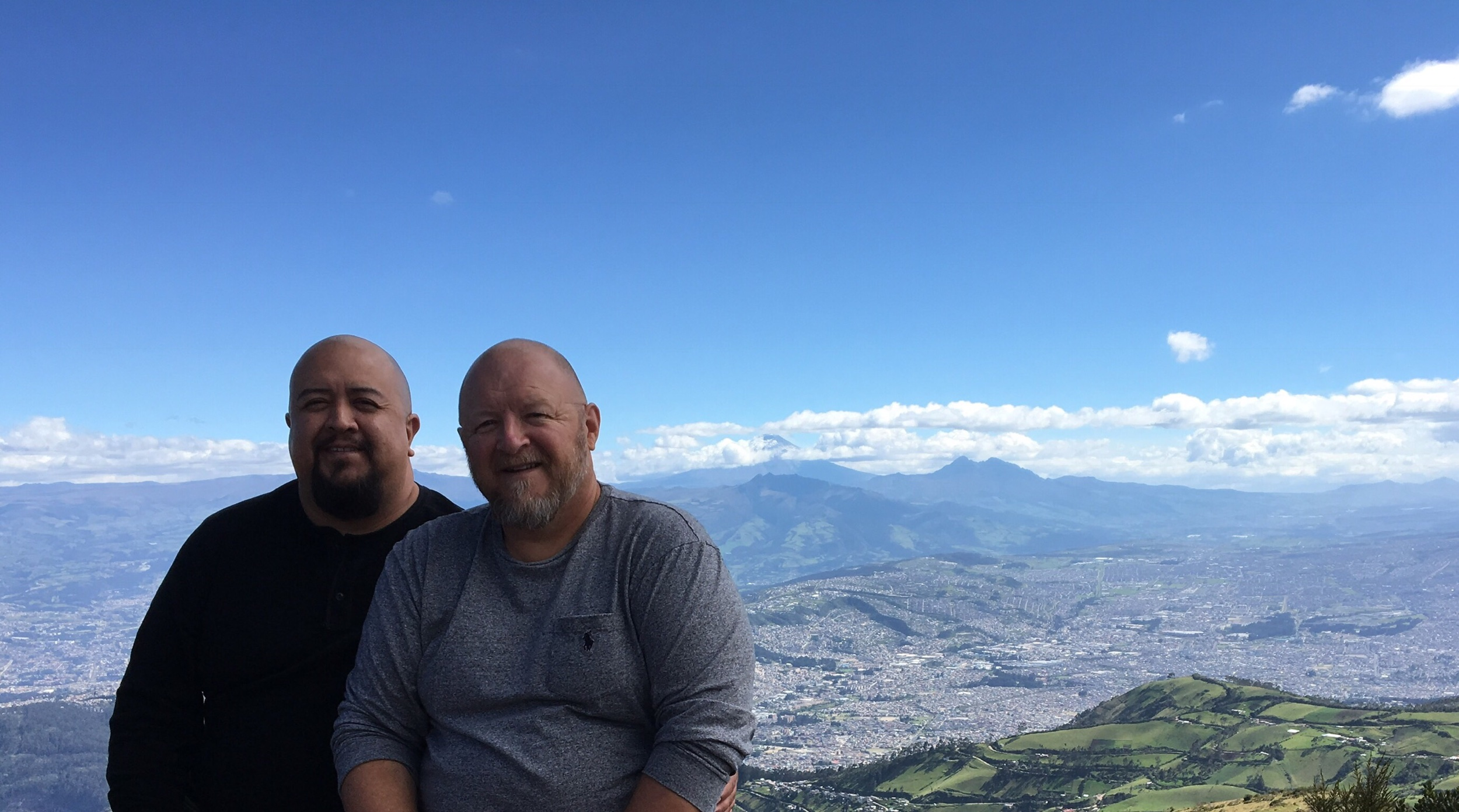 Quito, the capital, as seen from the top of the TeleferiQo gondola lift ride at almost 13,000 ft above sea level