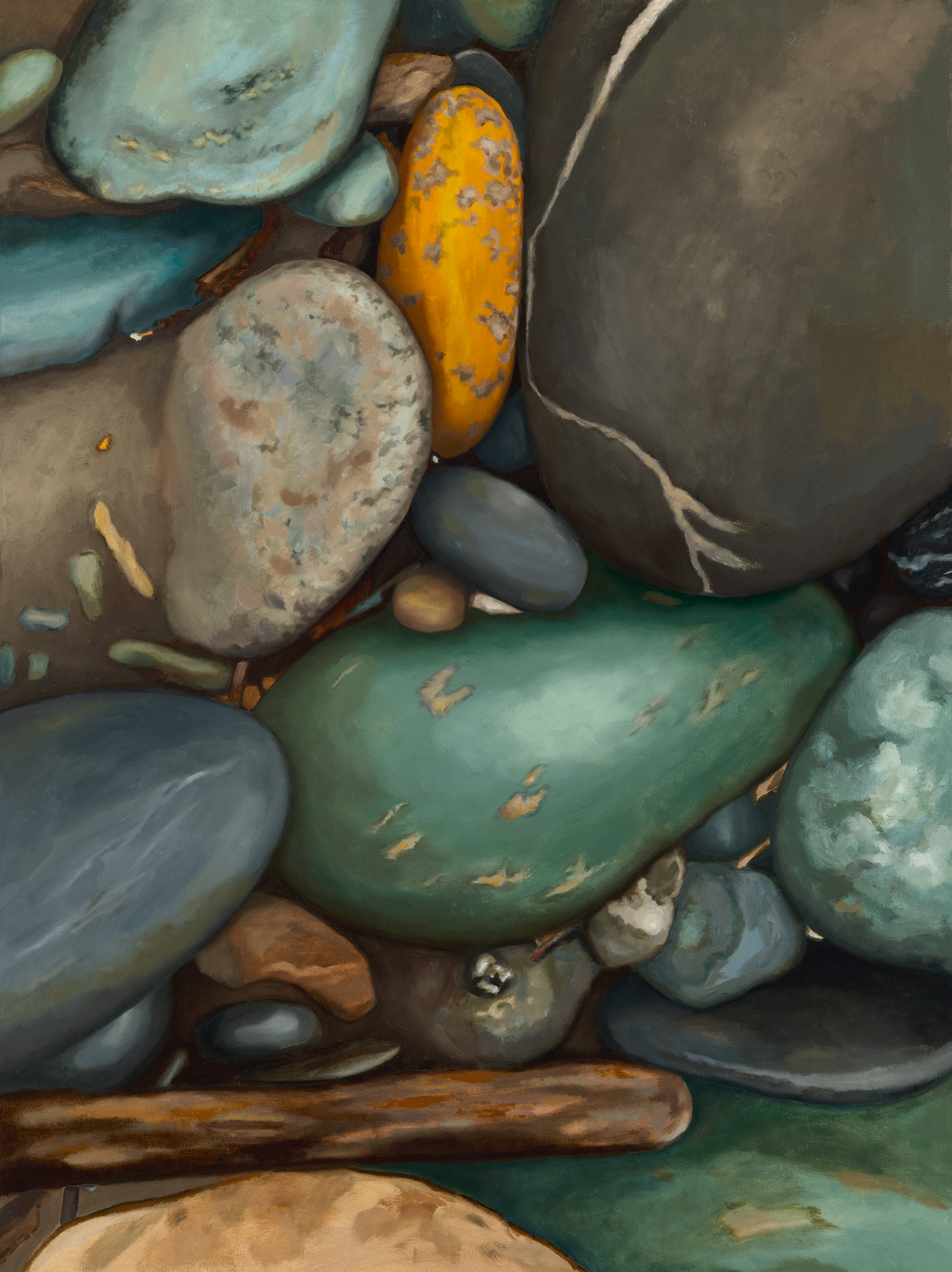 "Sermons In Stones, oil on linen on panel, 30"" x 40""  SOLD"