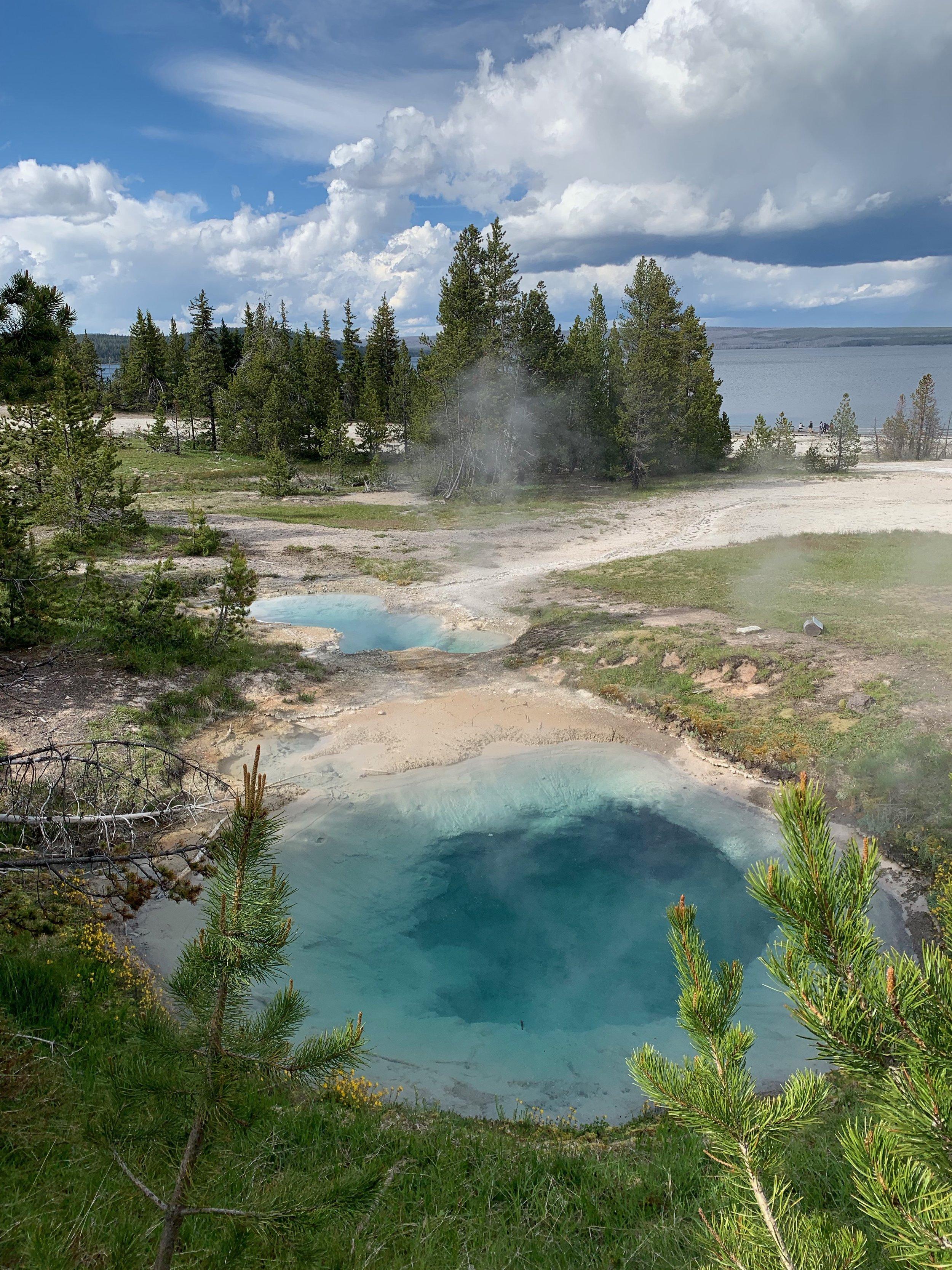 Hot spring pools at Yellowstone
