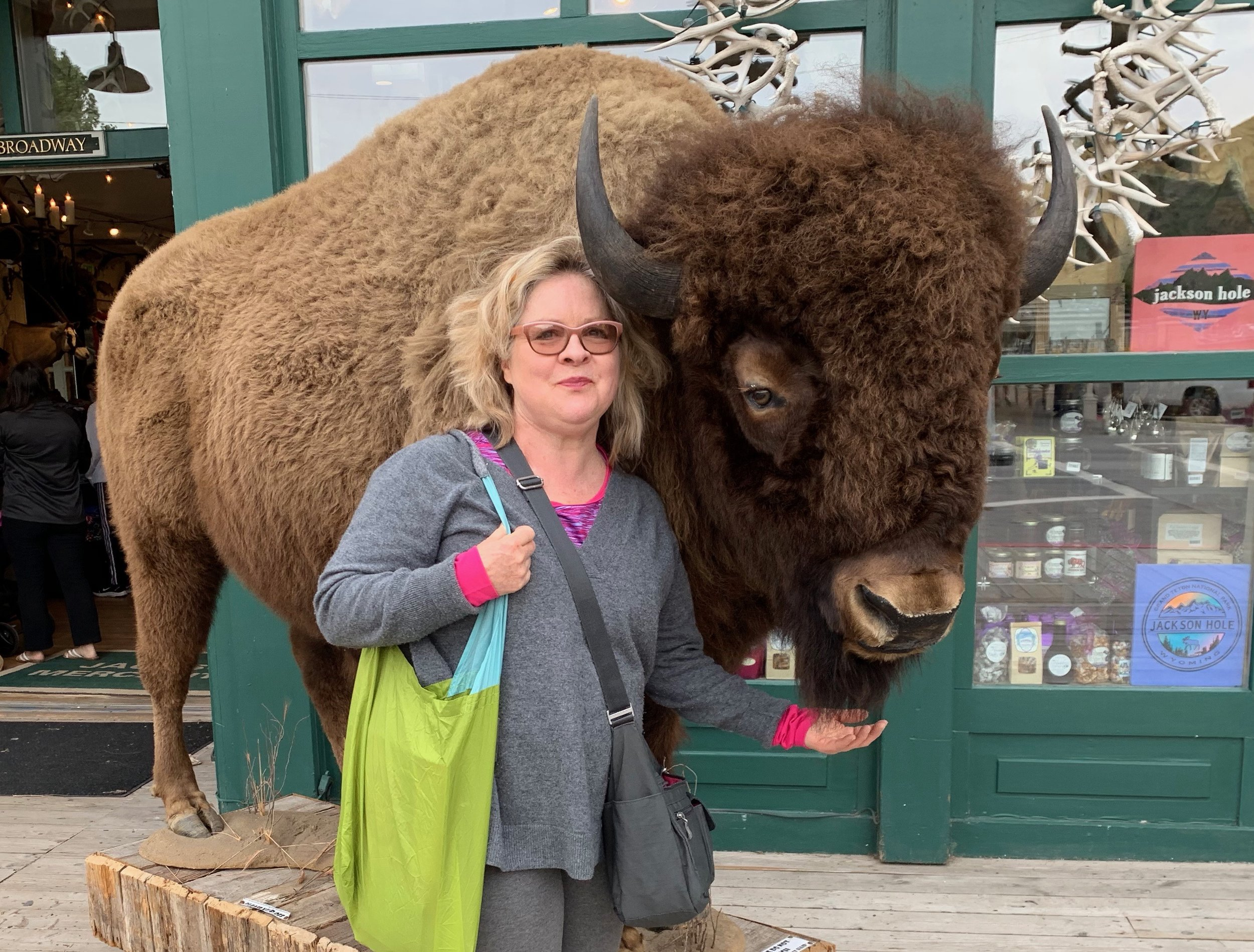 This is the closest I ever got to a bison, in Jackson Hole…