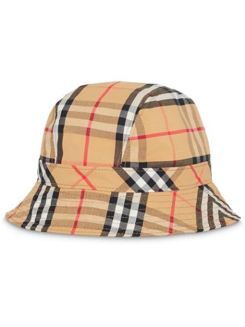 Burberry - Vintage Check Cotton Bucket Hat