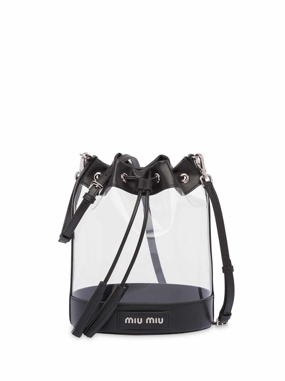 MIU MIU - transparent bucket bag
