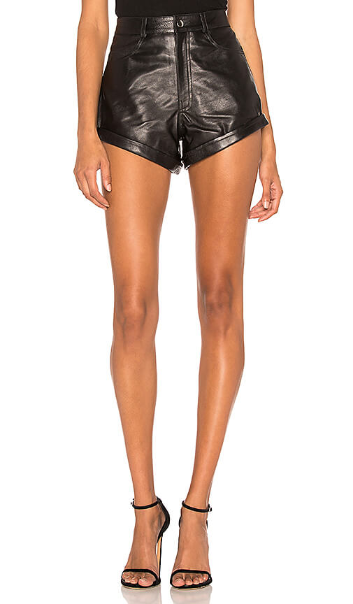Revolve - Leather Relaxed Cuff Short