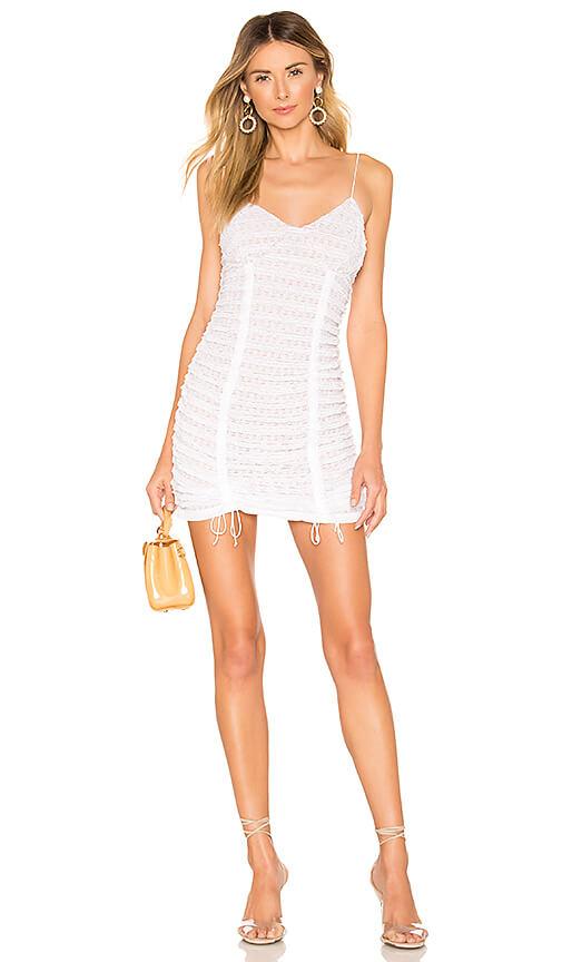 Revolve - For Love & Lemons - Fondant Shirred Mini Dress