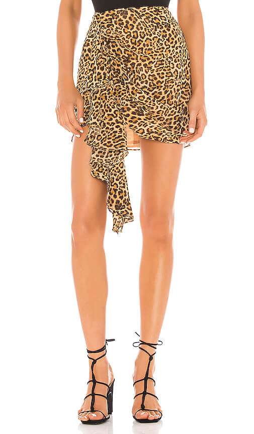 Lovers and Friends Ginny Mini Skirt in Cheetah Print