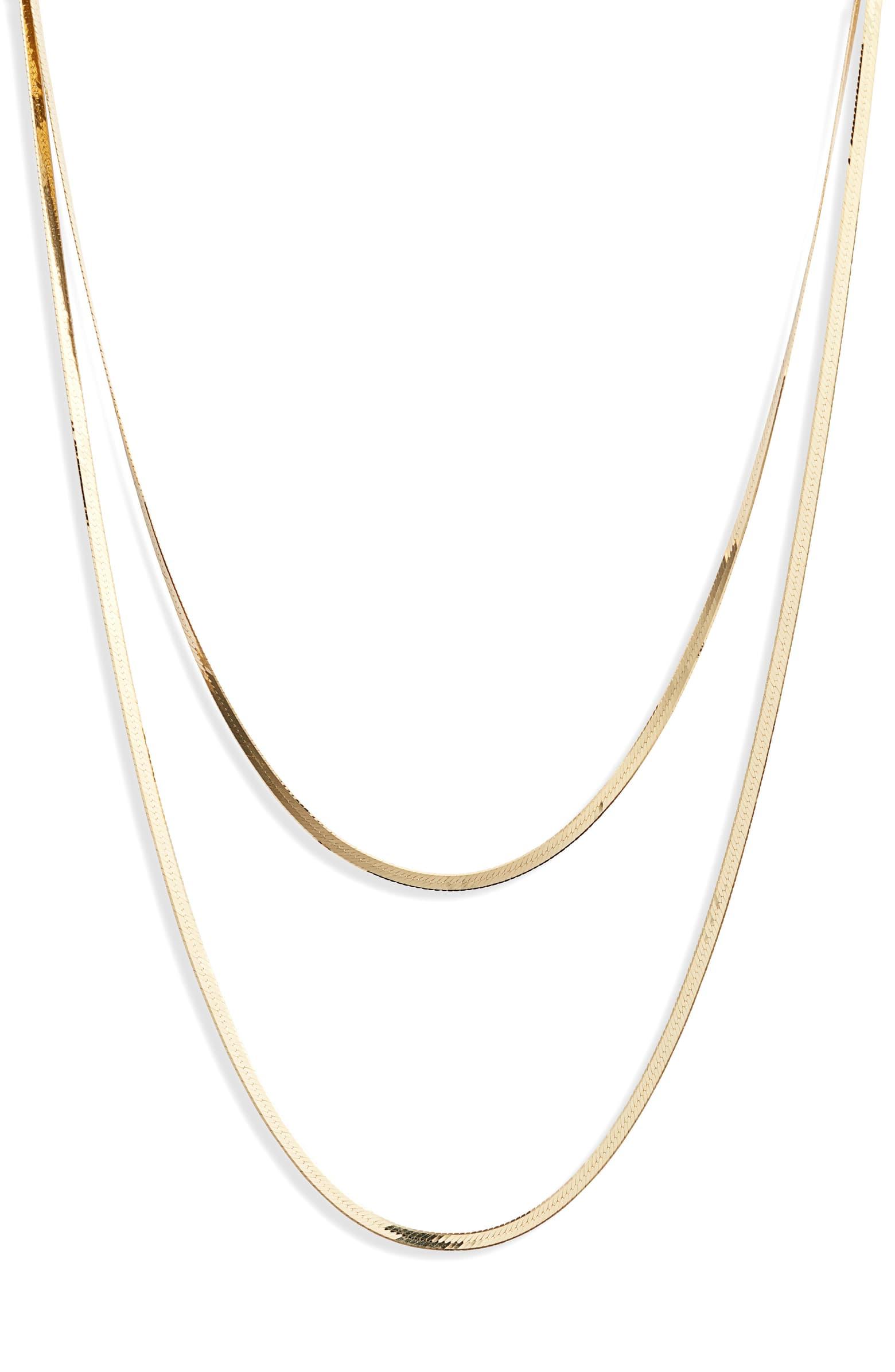 Lana Jewelry Casino Herringbone Layered Necklace