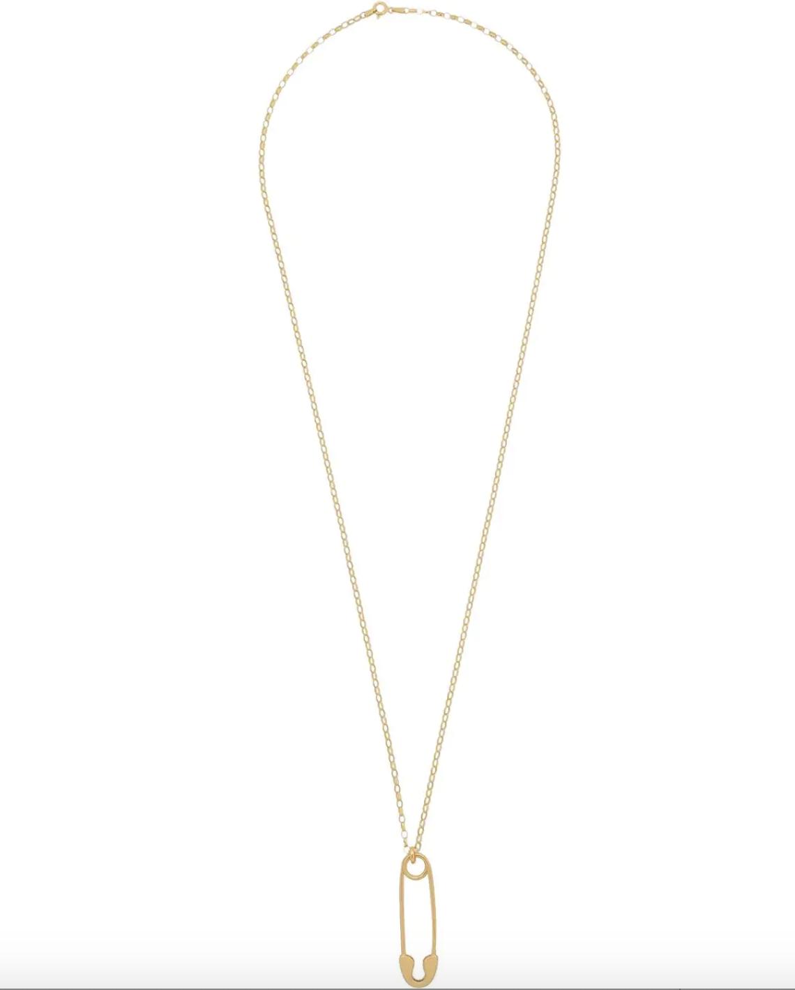 True Rocks safety pin necklace