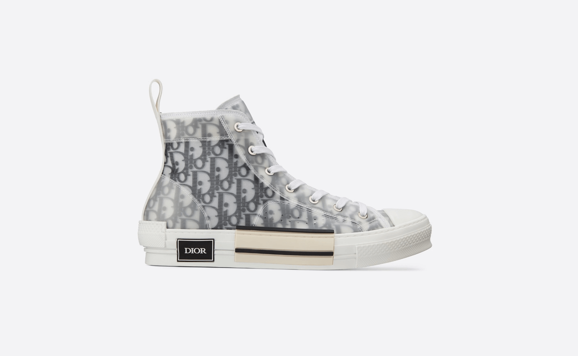 Dior high top sneakers in Dior oblique