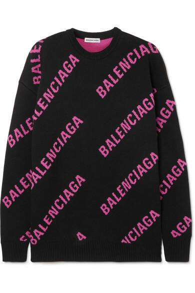 Balenciaga oversized cotton blend sweater