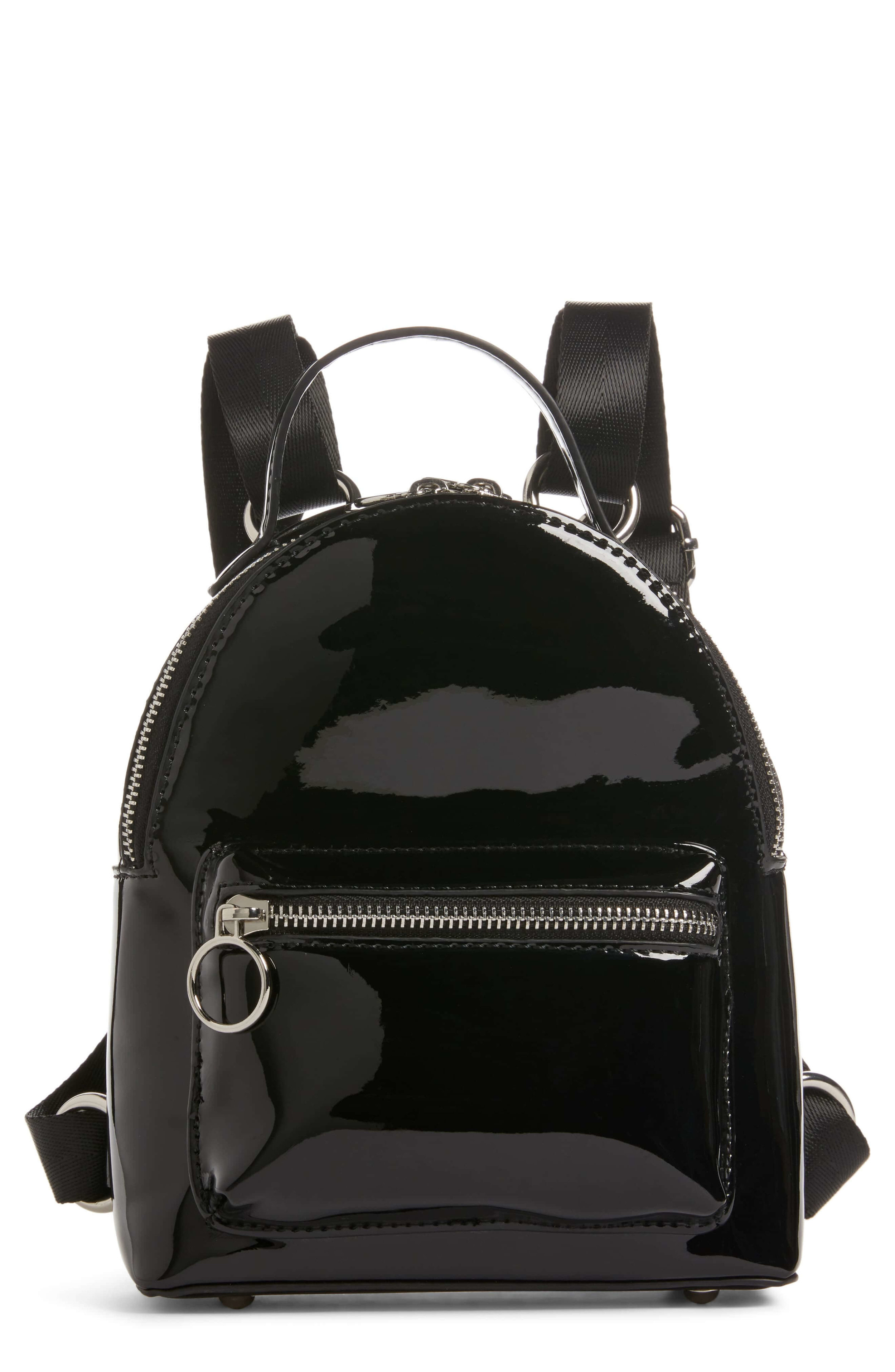 BP Patent Leather Mini Backpack