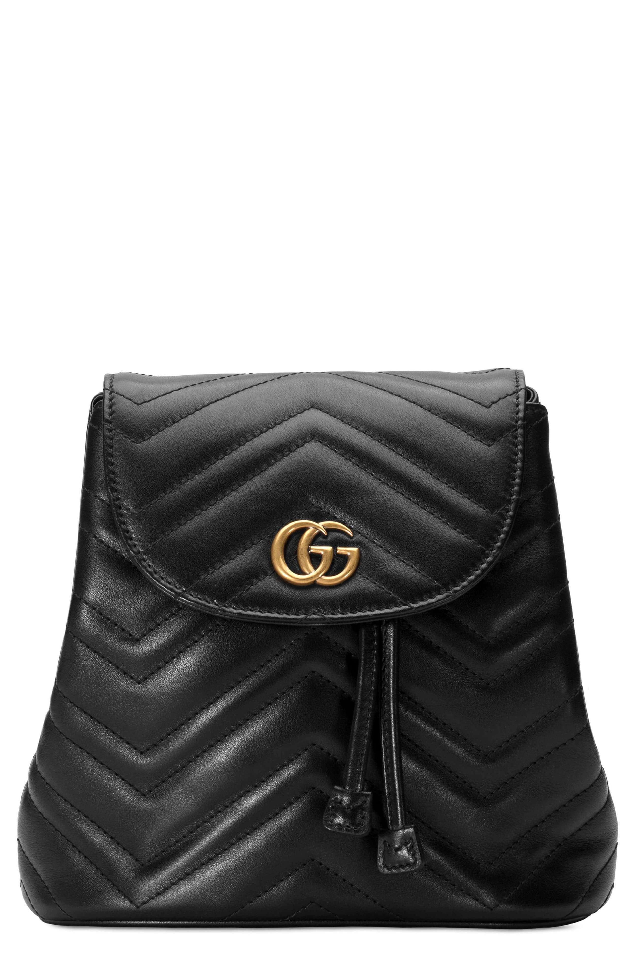 Gucci GG Marmont Leather Mini Backpack