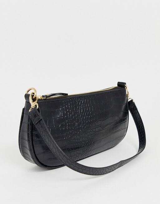 ASOS mock crock 90s shoulder bag