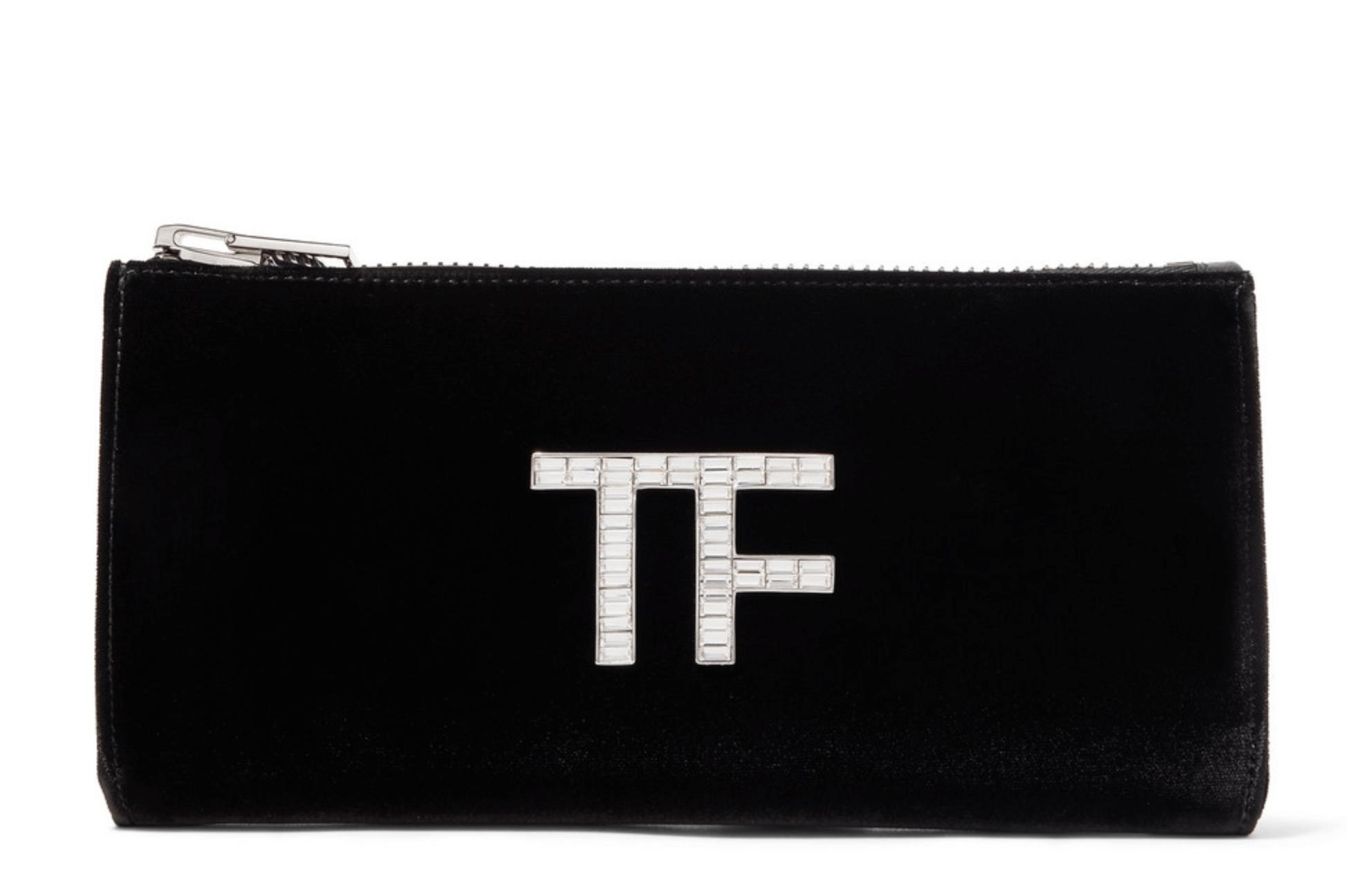 Tom Ford logo plaque clutch