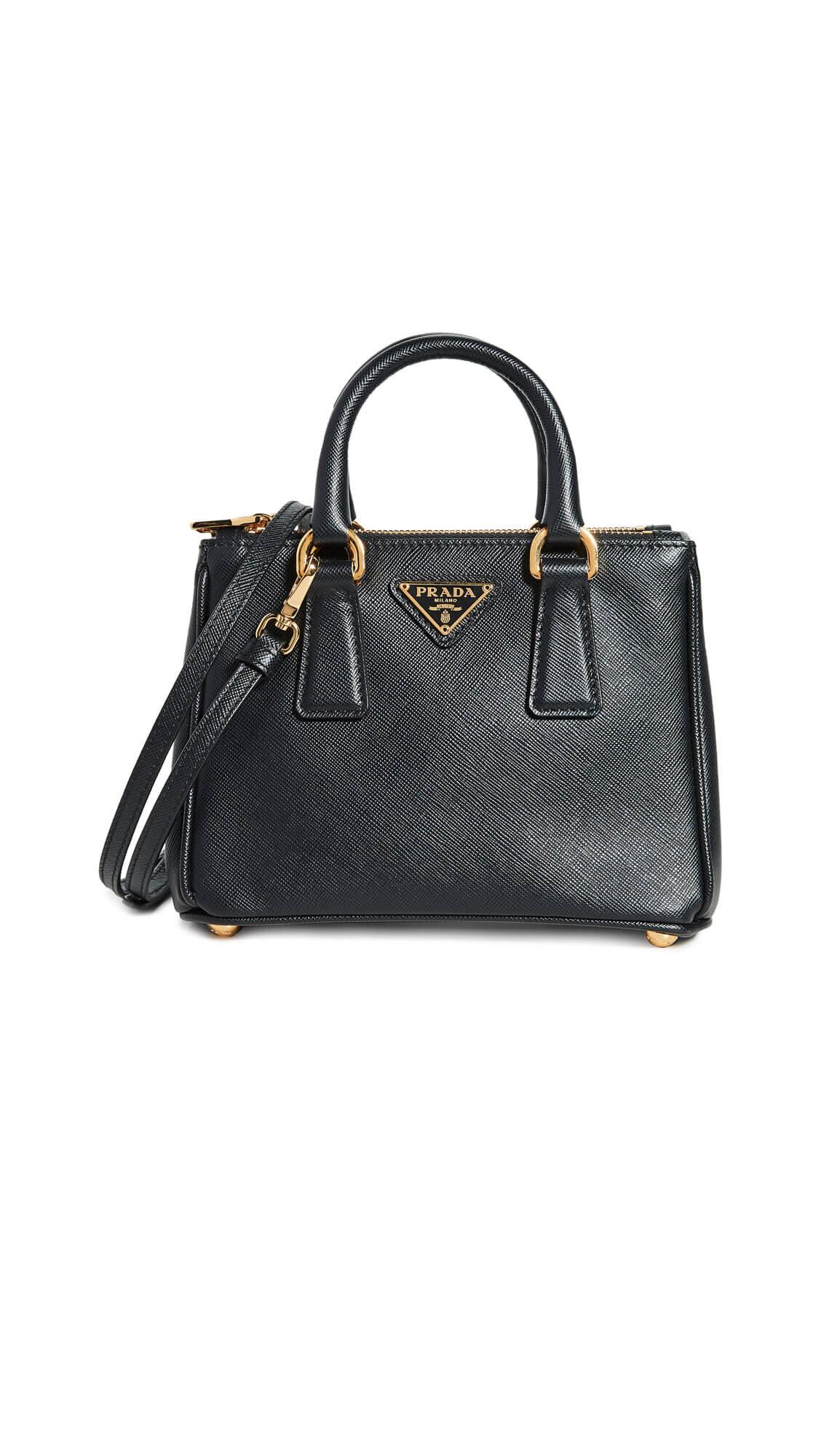Prada Black Exec Tote Micro Bag
