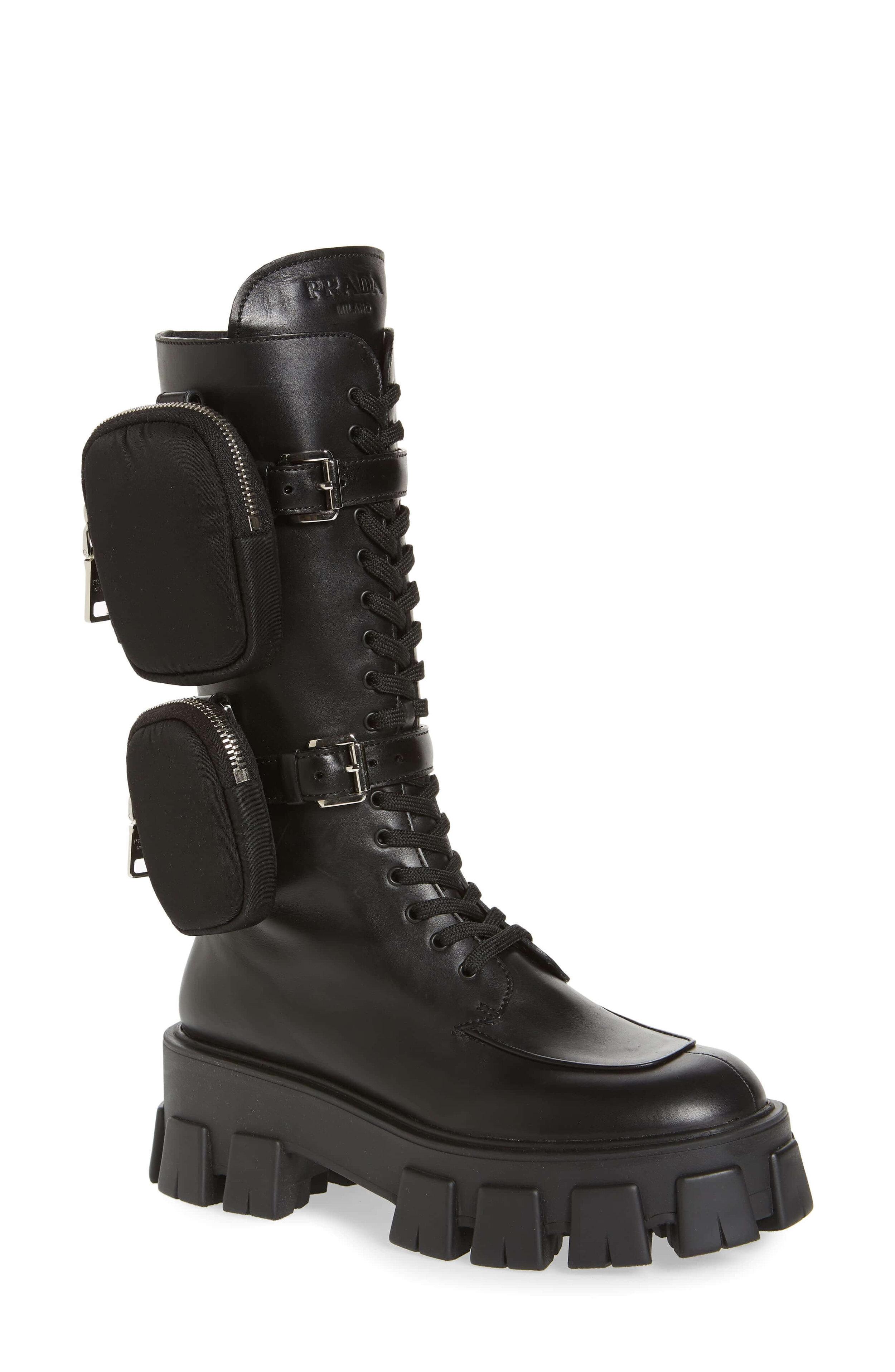 Prada Monolith Mini Bag Knee High Boot