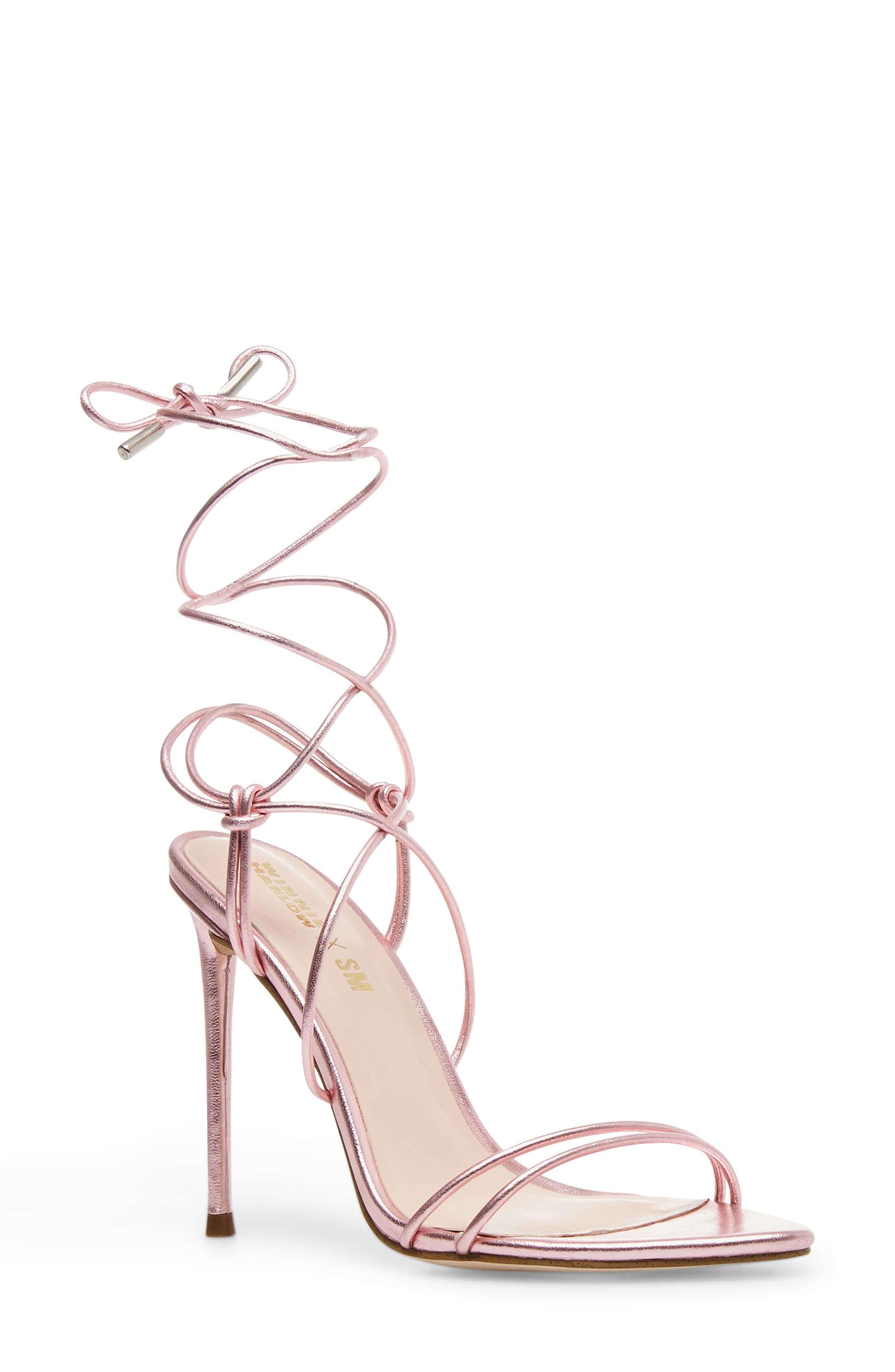 Winnie Harlow X Steve Madden Badgirl Ankle Wrap Stiletto Sandal