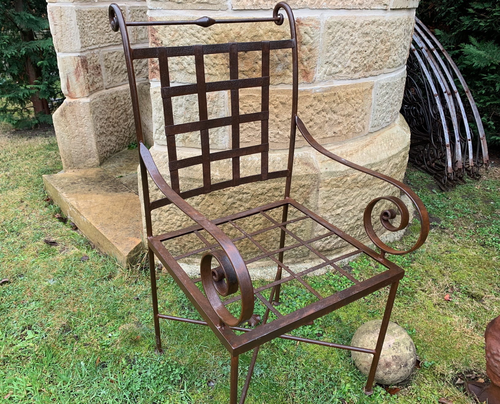 TC1509 Classic Tuscan iron carver garden chair  $350ea
