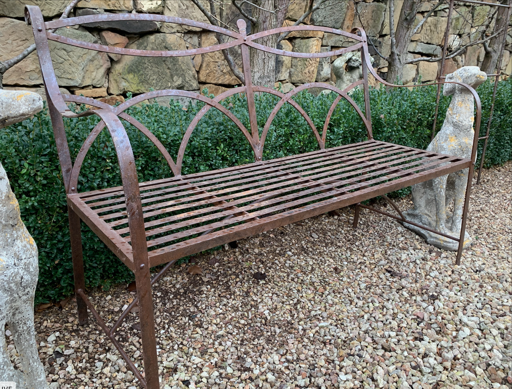 SB580 Iron Tuscan garden bench  $795 Out of stock