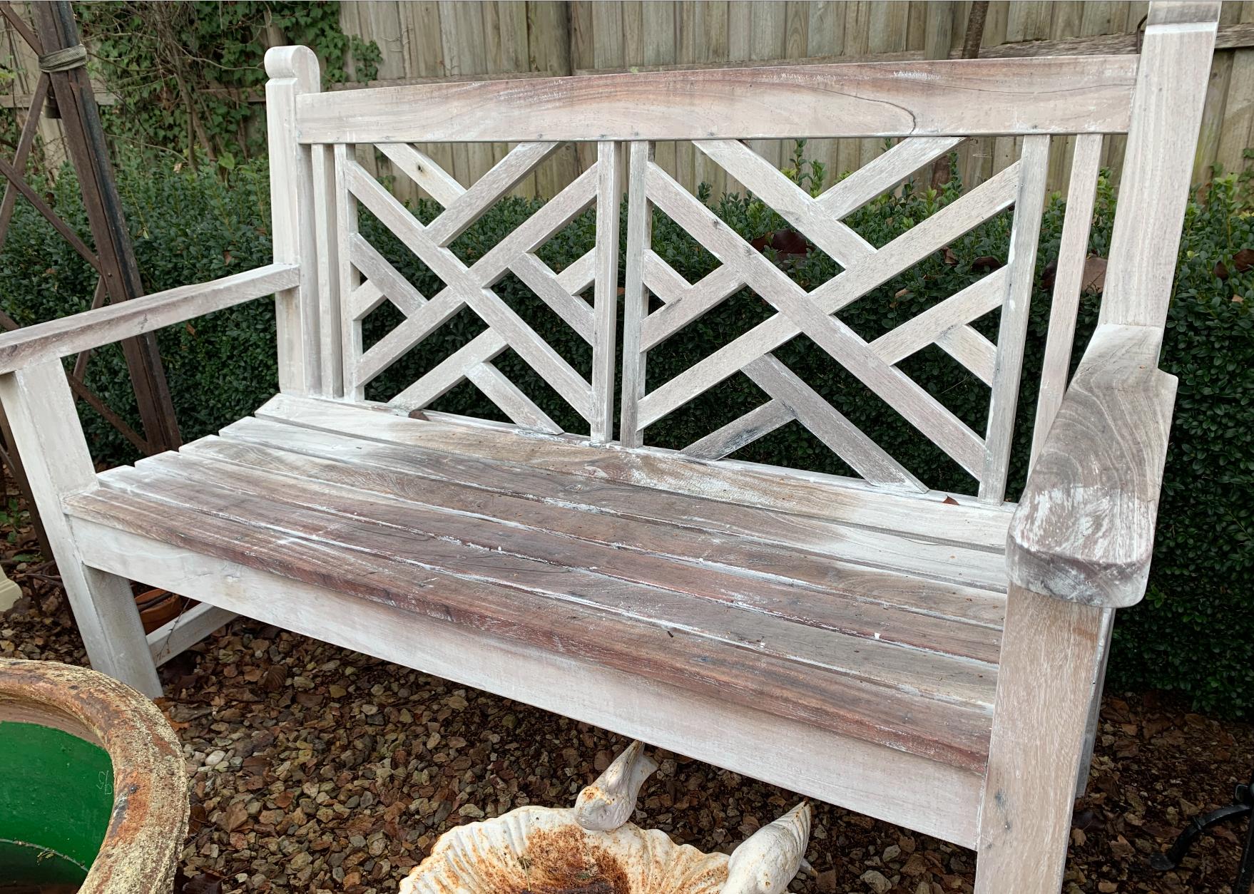 SB1581 Hardwood Chippendale style garden seat $995