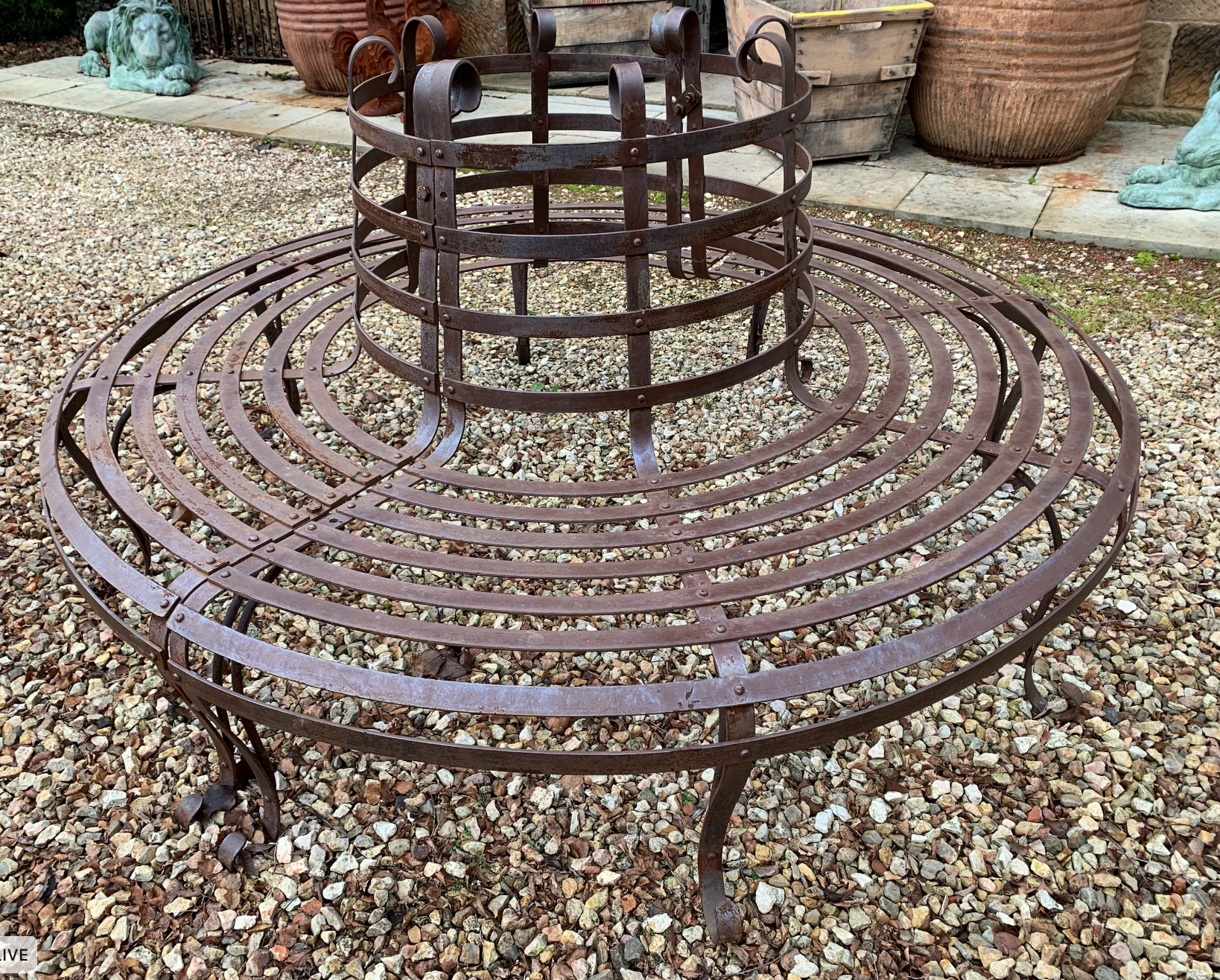 SB1686 Victorian style iron tree surround seat  $1195 Out of stock