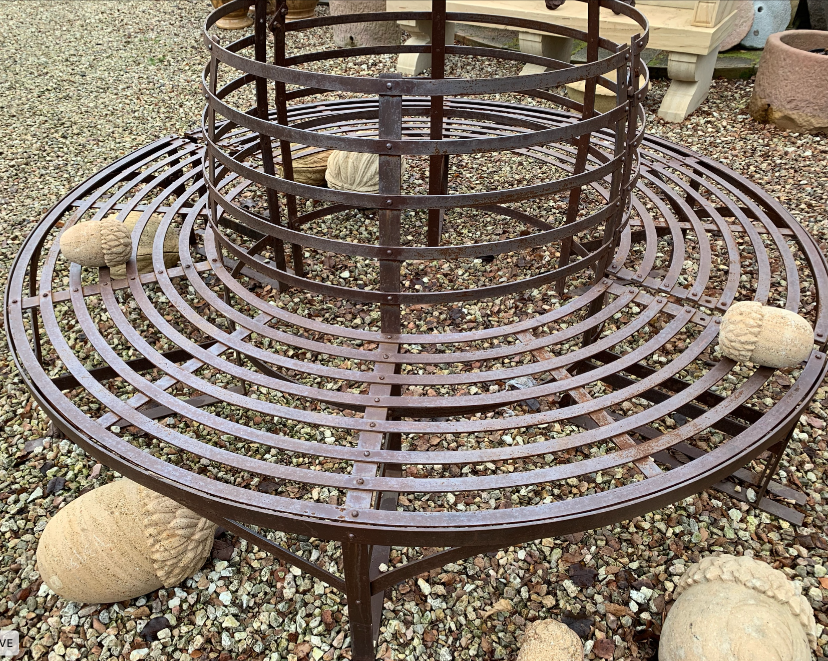 SB1833 Georgian style iron tree surround seat $1495