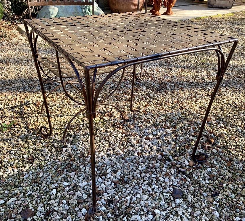 TC1692 Paris square forged iron garden table $695