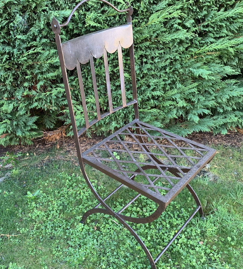 TC1328 French scroll iron garden chair $325ea
