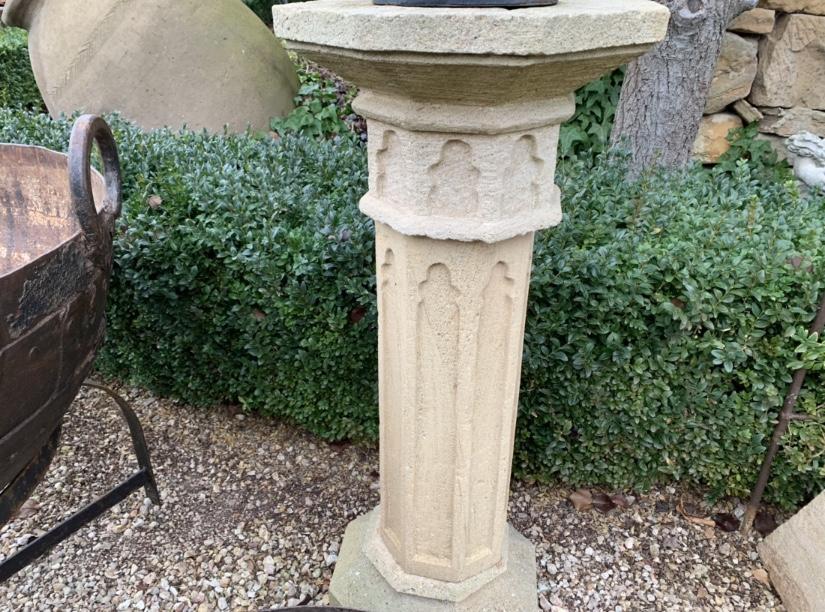 GF1026 Sandstone Gothic sundial pedestal $895