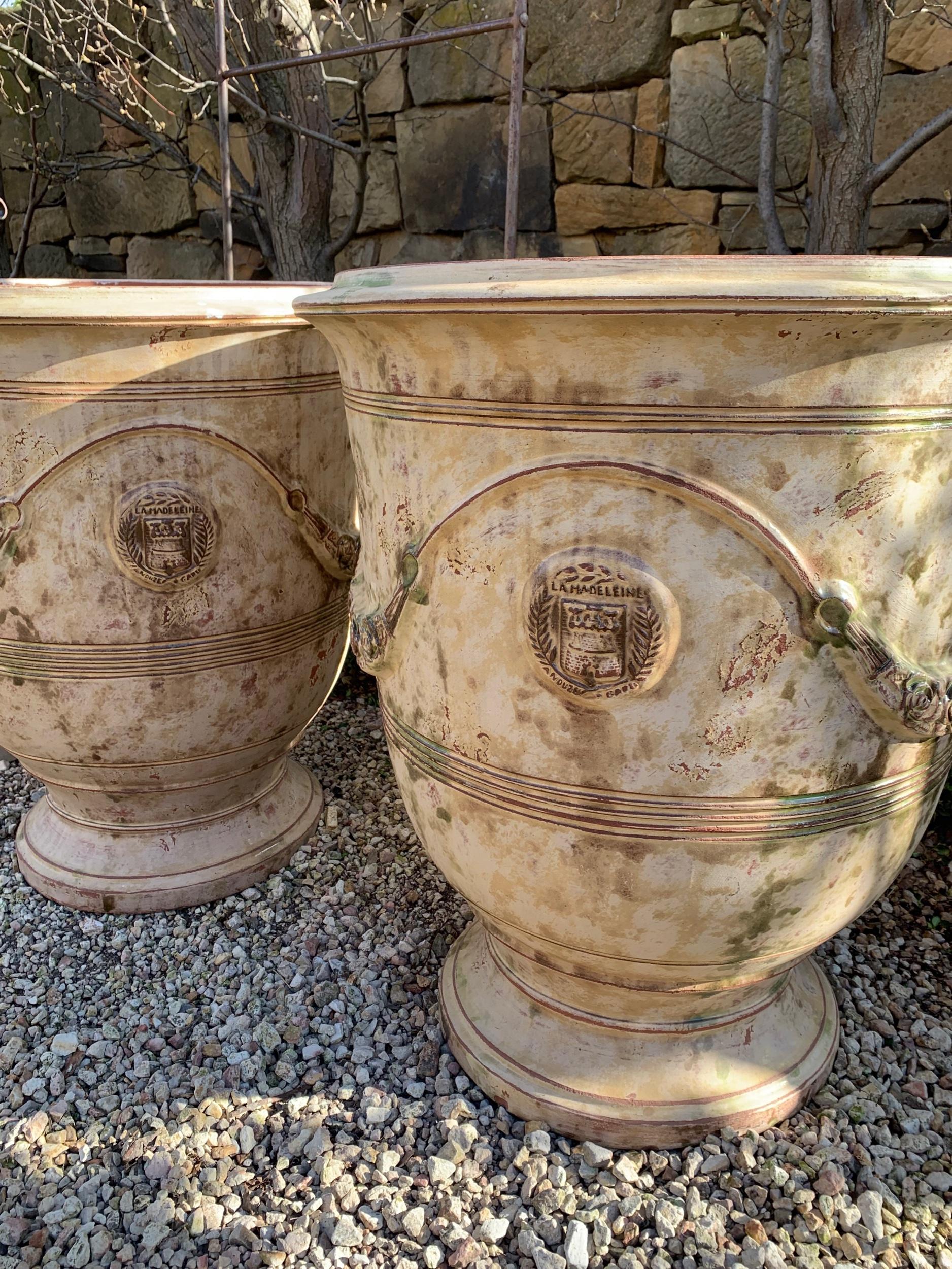 UP4 Pair of 80cm La Madeline ancient anduze pots $1800ea