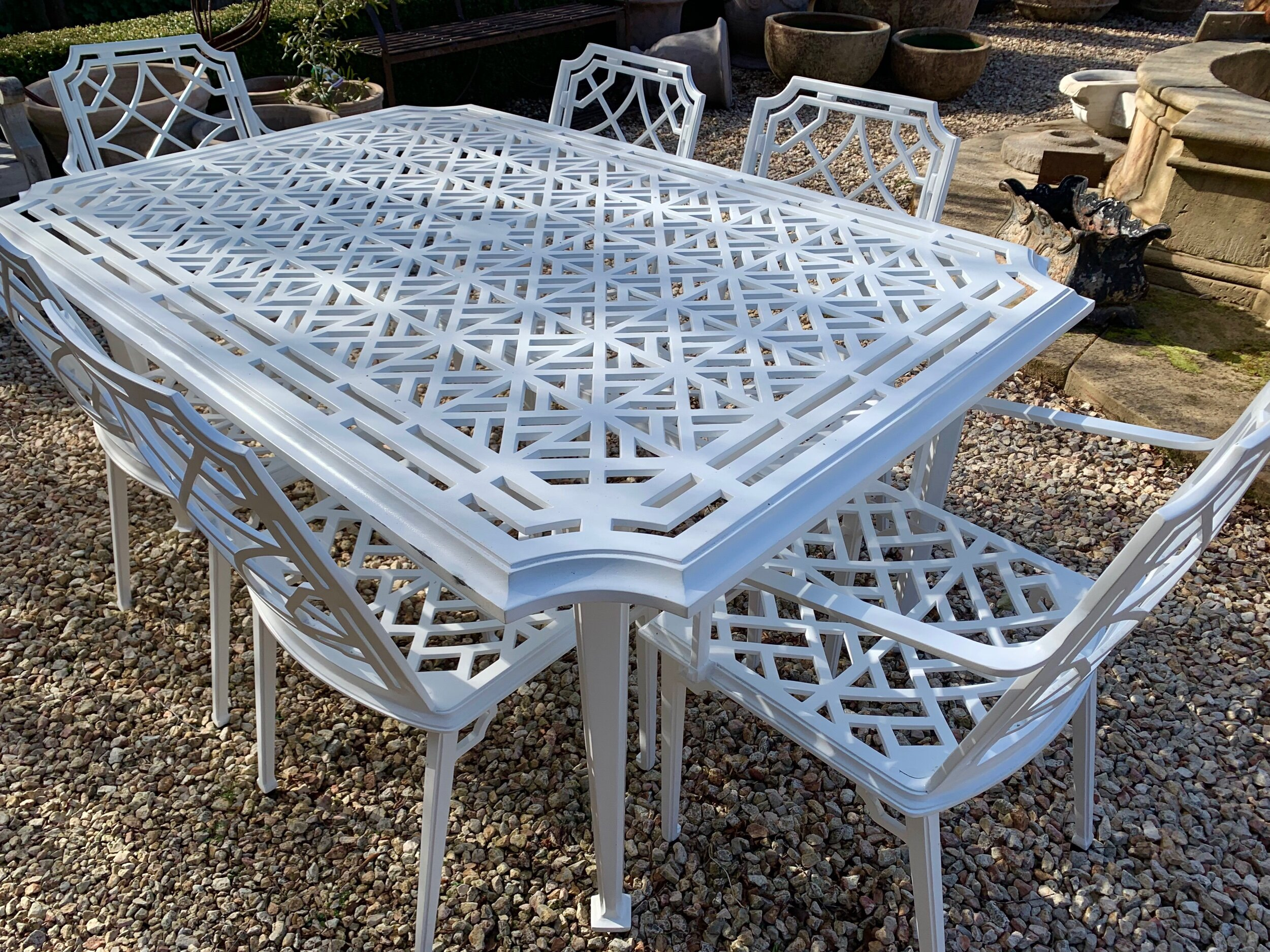 TC213-215 Repton cast aluminium 6 seat table and chair setting $5800set