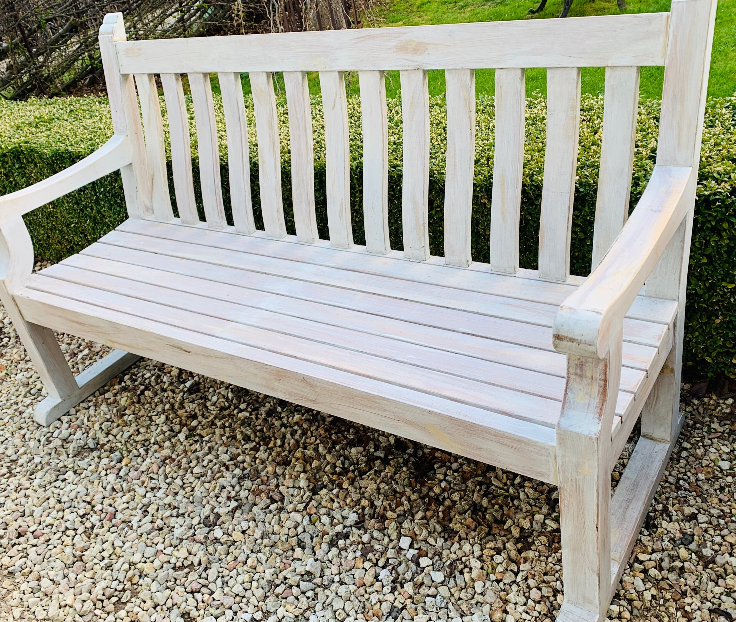 SB. Kensington limed timber garden seat  $995 Out of stock