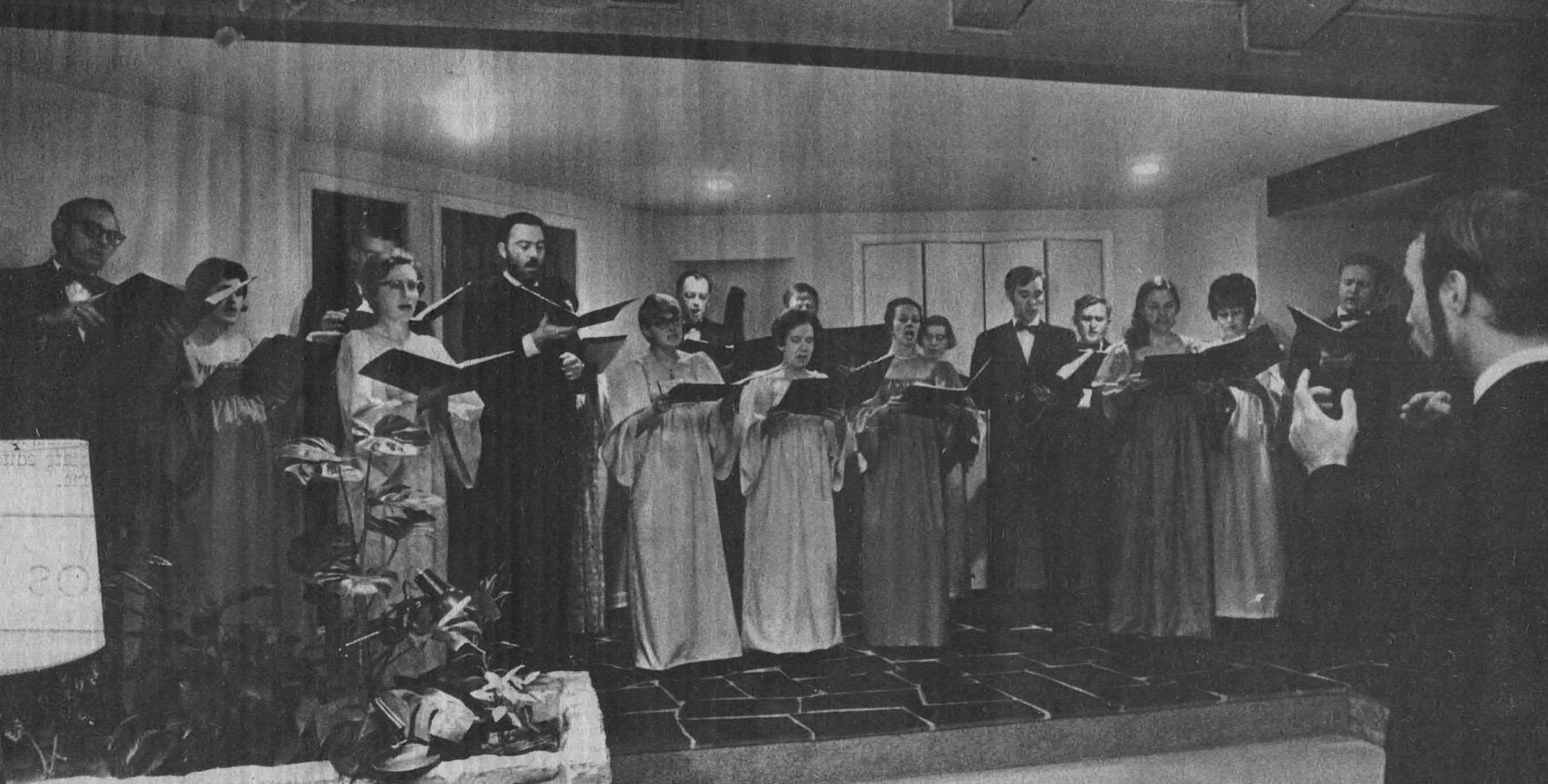 The Bloomington Chamber Ensemble rehearses Nov. 13, 1970 for its first performance.