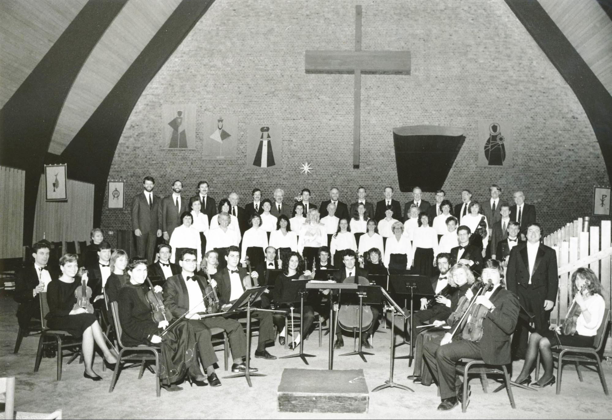Perhaps the first concert conducted by Gerald Sousa, Dec. 8, 1989.