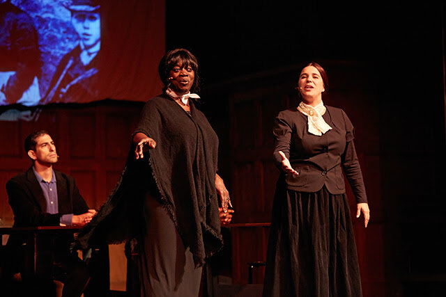 "Singing ""Women Hold Up Half the Sky"" Actors are Julia Nixon and Jenna Stein. Photo: Sean Scheidt"