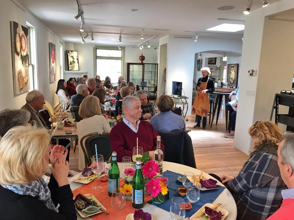 Luncheon with Lek Chailert at Shelby House Santa Fe, photo courtesy of Lek Chailert