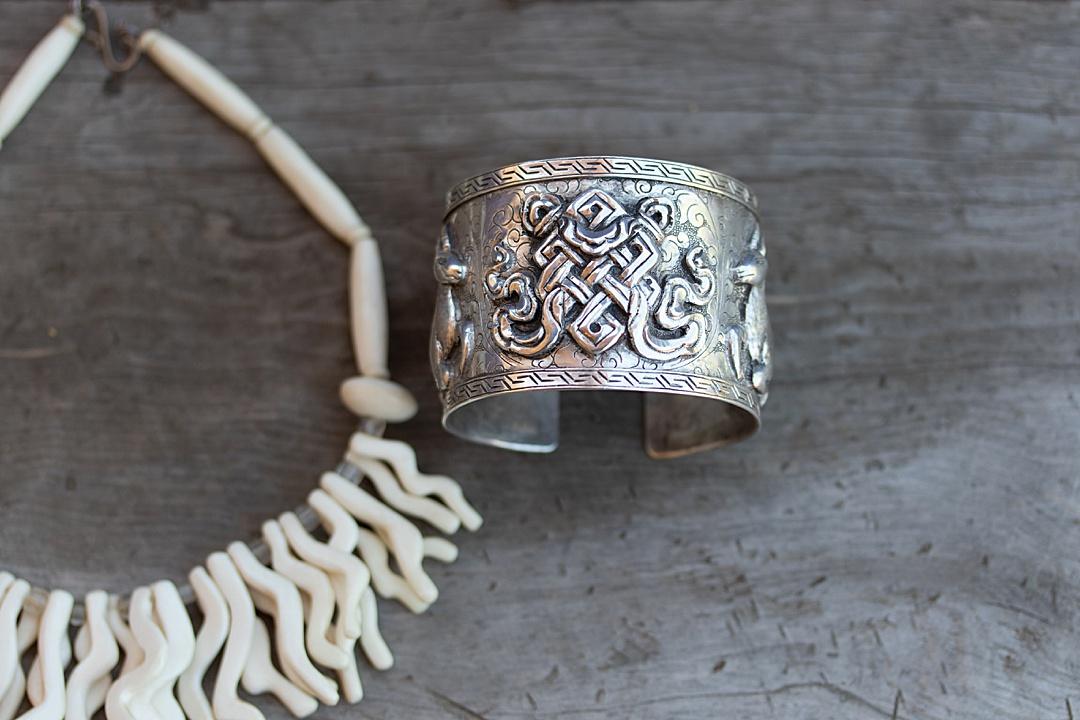 Intricate Silver Cuff