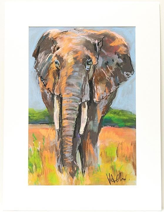 Elephant+Print+by+Artist+Kathryn+Adele+Schumacher